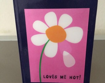 3D Lenticular Loves Me/Loves Me Not A5 Navy-Blue Notebook