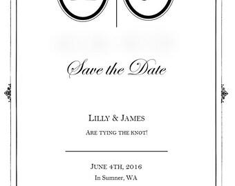 Vintage Wedding Save the Dates - Digital Download