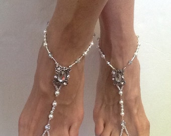 Barefoot Sandals, Victoria Barefoot Sandal, Wedding Sandals for the Beach,  Barefoot Sandals for a Beach Wedding, Gift for a Bridesmaid