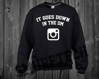 Yo Gotti - It Goes Down In the DM Crewneck Sweater / Sweatshirt