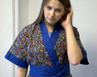 """Kimono """"spring blossoms in the Park Aso Kuyu"""""""