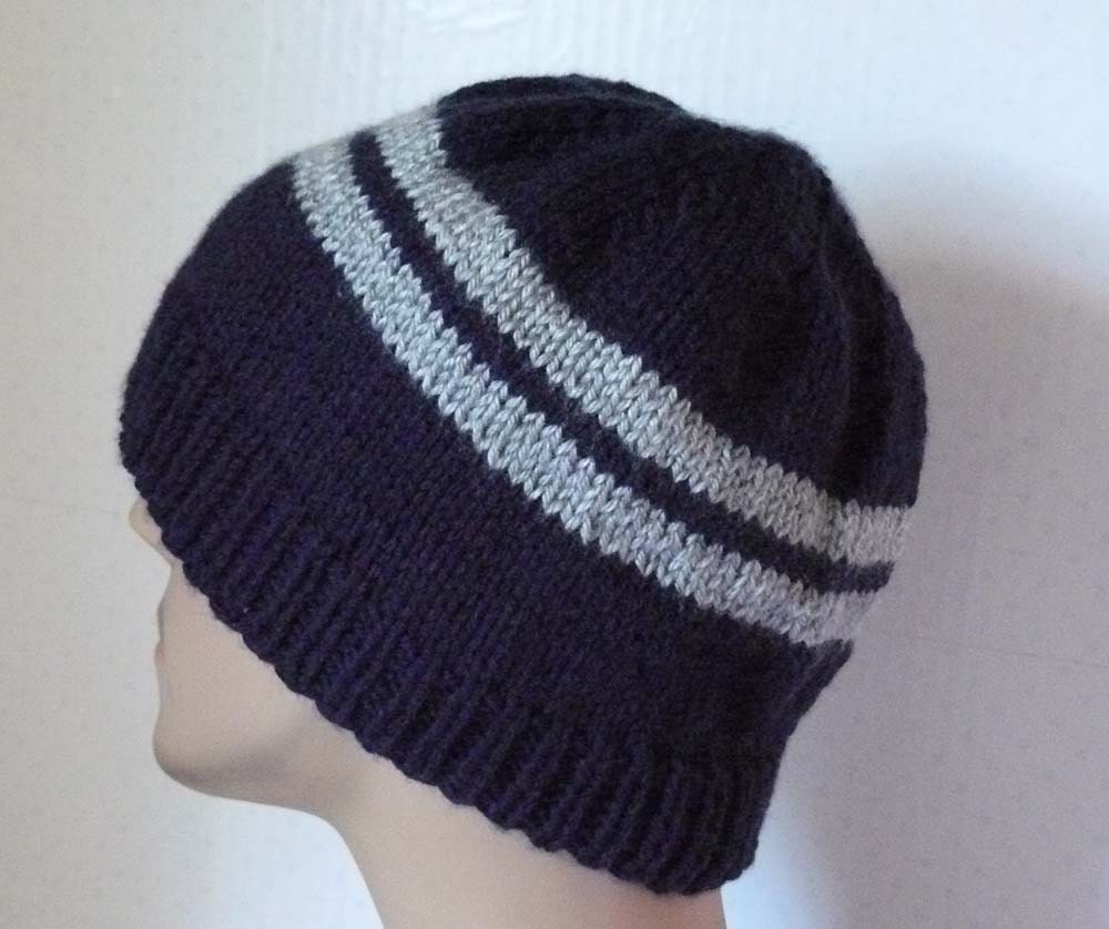 Knitting Beanie Patterns : Knitting pattern knit beanie mens hats