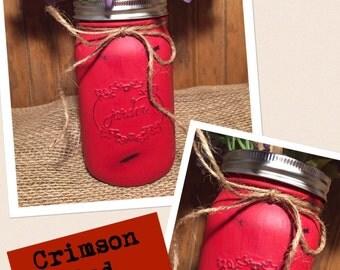 Large Mason Jar Vase