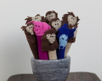 Puppets for hanging wall or crib tapestry