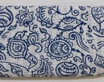 Indian Handmade Kantha Quilt Bedspread Throw Cotton Blanket Ralli Gudari Queen.