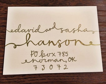 Gold Envelope Calligraphy
