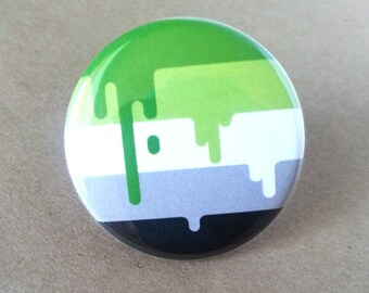 Button - Aromantic LGBT Queer Pride Flag!