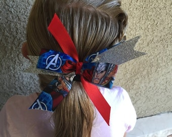 Avengers Thor sparkle girls hair bow