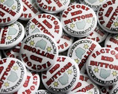 100 Custom 1-inch Pinback Buttons by Factory Kid Buttons