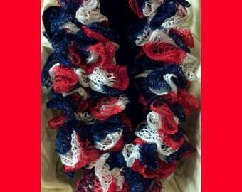 Patriotic Fashion Ruffled Scarf