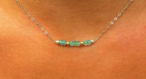 Aquamarine necklace in 925 Silver