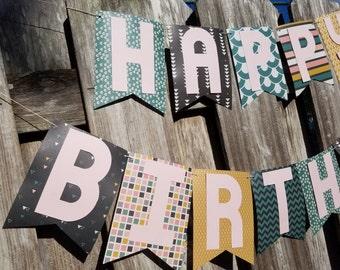 Retro Birthday Banner