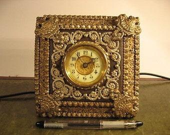 Antique Boudoir Clock - 1905 - fully restored - the British Clock. Co