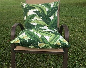 Tommy Bahama Stuffed Outdoor Pillow - Palm Tree Stuffed Throw Pillow - Beach Cottage Decorative Pillow