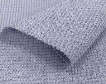 Stretchy Thermal Knit Fabric by the Yard (Wholesale Price Available By the Bolt) USA Made Premium Quality - 7371 Wisteria - 1 Yard