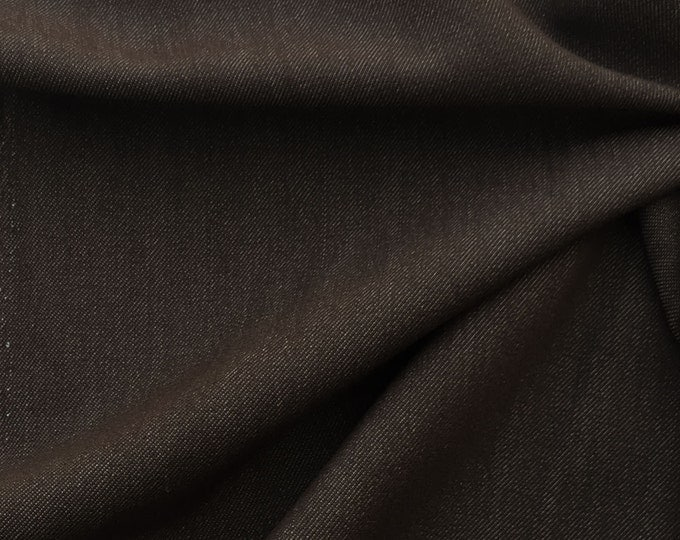 Stretchy Cotton Twill Fabric By the Yard (Wholesale Price Available By the Bolt) Premium Quality - 10052 Java - 1 Yard