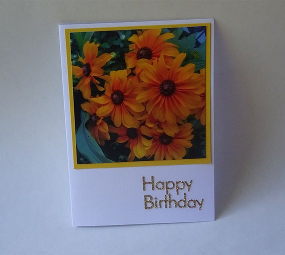 Birthday Card with Yellow Flowers - #1993