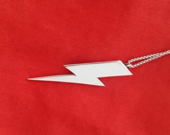 Bowie-esque lighting bolt pendant
