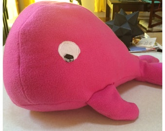 Pink Fleece Large Whale