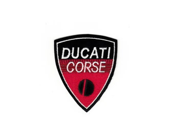 Vintage Racing Ducati Corse Vintage Hog Motorcycle Club Embroidered Cloth Sew Iron On Patches Patch Appliques Biker Vests For Jackets Jeans