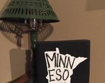 Custom Minnesota wood sign