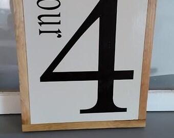 Number #4 Sign