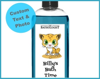Bubble Bath Personalized Gifts for Kids, Custom Photo Label, Available in Shower Gel, Body Lotion, Shampoo and more