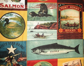 Salmon run,Alaska,fishing,,duck,Blue Hill fabrics