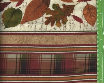 Cabin Life,Leaf Border, Plaid, Timeless Treasures