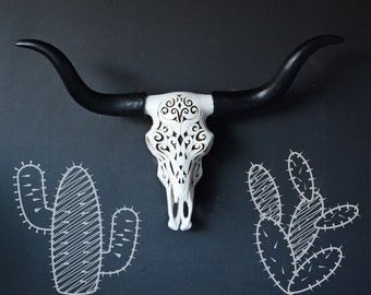 Bull Skull Wall Decor rose gold cow skull faux skull faux taxidermy skull home