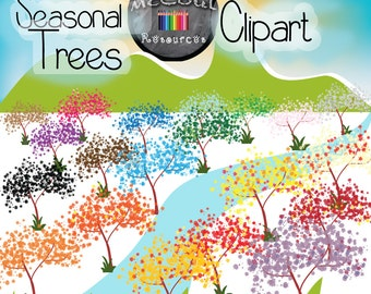 Seasonal Trees Clipart
