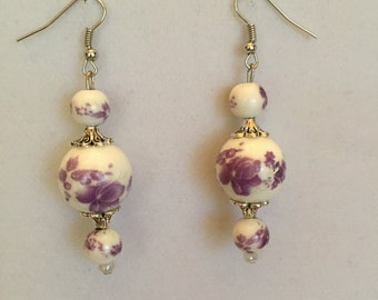 Lovely Lavender Drop Earrings