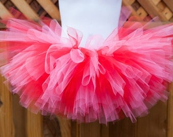 Red and Pink Tutu/Valentines Day Tutu/Peppa Pig Tutu- Other Colors Available