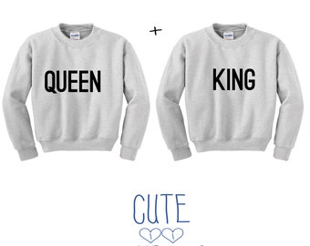 Queen and King couple sweater hoodie friends