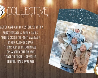 Falling Snowflakes Holiday Card - Foil Press