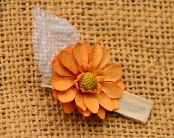 Paper/Burlap Flower Clip