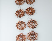 SPECIAL Deal * Set of 7 Chakra Wooden Earrings (Buy 5 pairs, get two FREE pairs) Great Buy - Great Gift Idea
