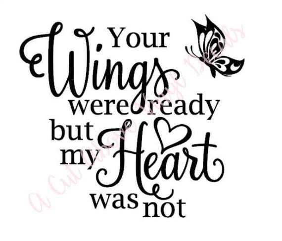 Your Wings Were Ready Butterfly Vinyl Decal Sticker Fits