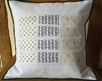 Handmade Patchwork Quilted Cushion Cover