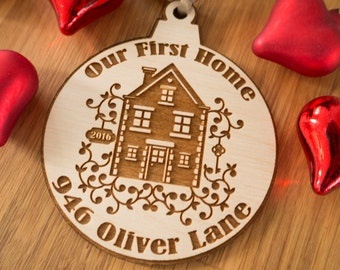First Home Ornament - First Home Gift - First Home Christmas Ornament - Our First Home - Housewarming Gift - New Home - Our First Home