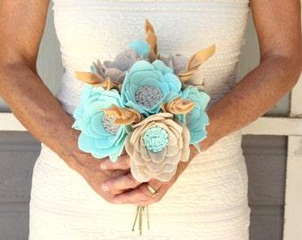 Felt flowers - wedding bouquet - felt flower bouquet