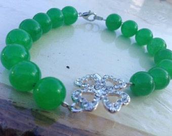 Lucky Irish bracelet and earring set