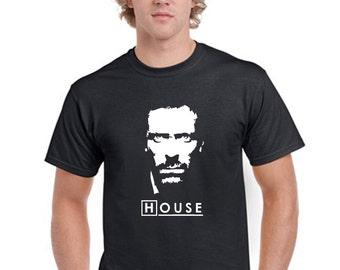 Dr House Face T-Shirt Men Boys