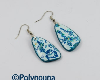 "Earrings collection ""blue chocolate Donau"