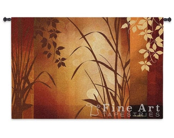 Flaxen Silhouette Wall Tapestry - SKU: 4124-WH