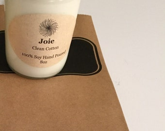 Clean Cotton 100% Soy Candle 8oz
