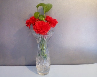 Vintage Russian Soviet heavy Crystal vase flower vase Gift Idea