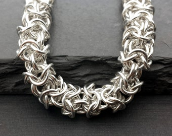 Sterling Silver Chainmail Bracelet - Turkish Roundmail