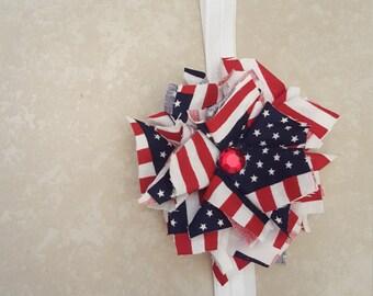 Shabby Chic Patriotic Headband