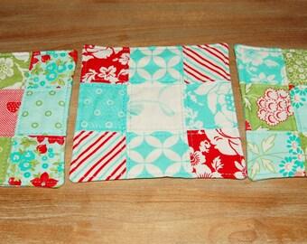 Hello Darling mug rugs (set of three)